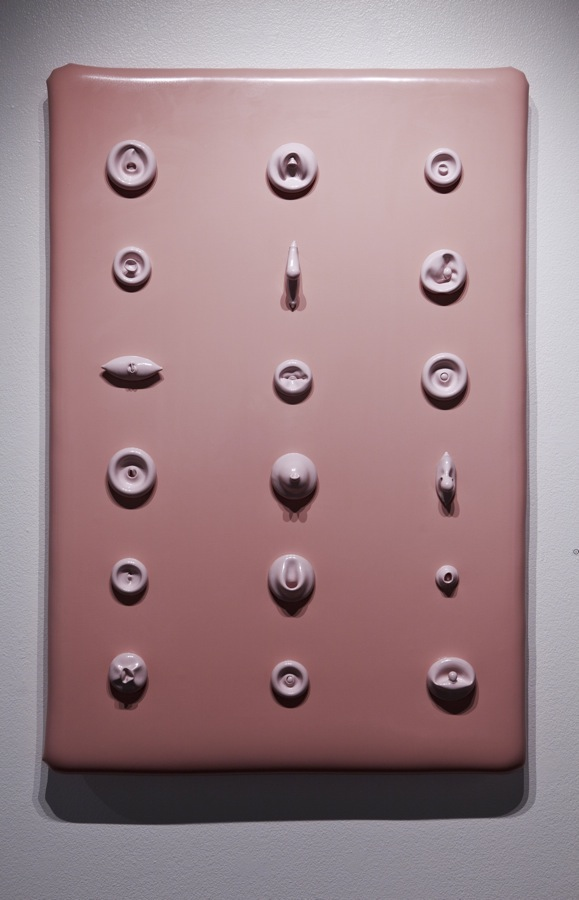 latex paint, foam, wood, 53x35x6""