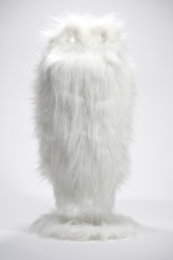 faux fur on found object